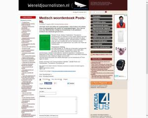 wereld journalisten Medisch Pools